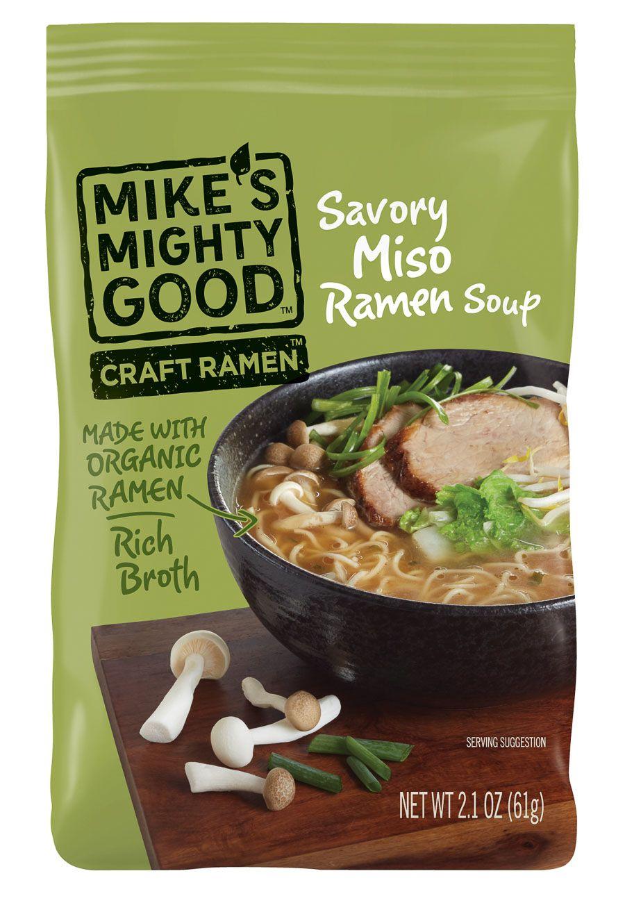 Mikes savory miso ramen soup