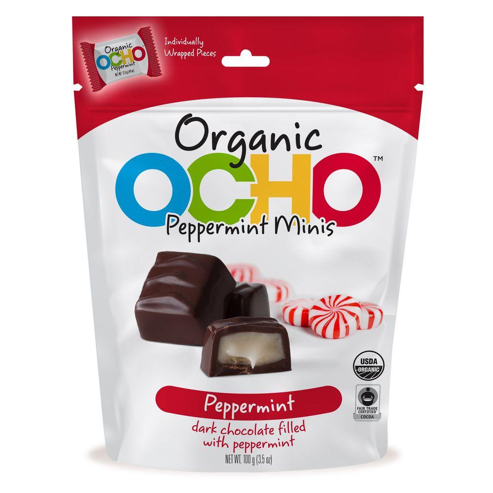 Ocho Organic dark chocolate peppermint minis