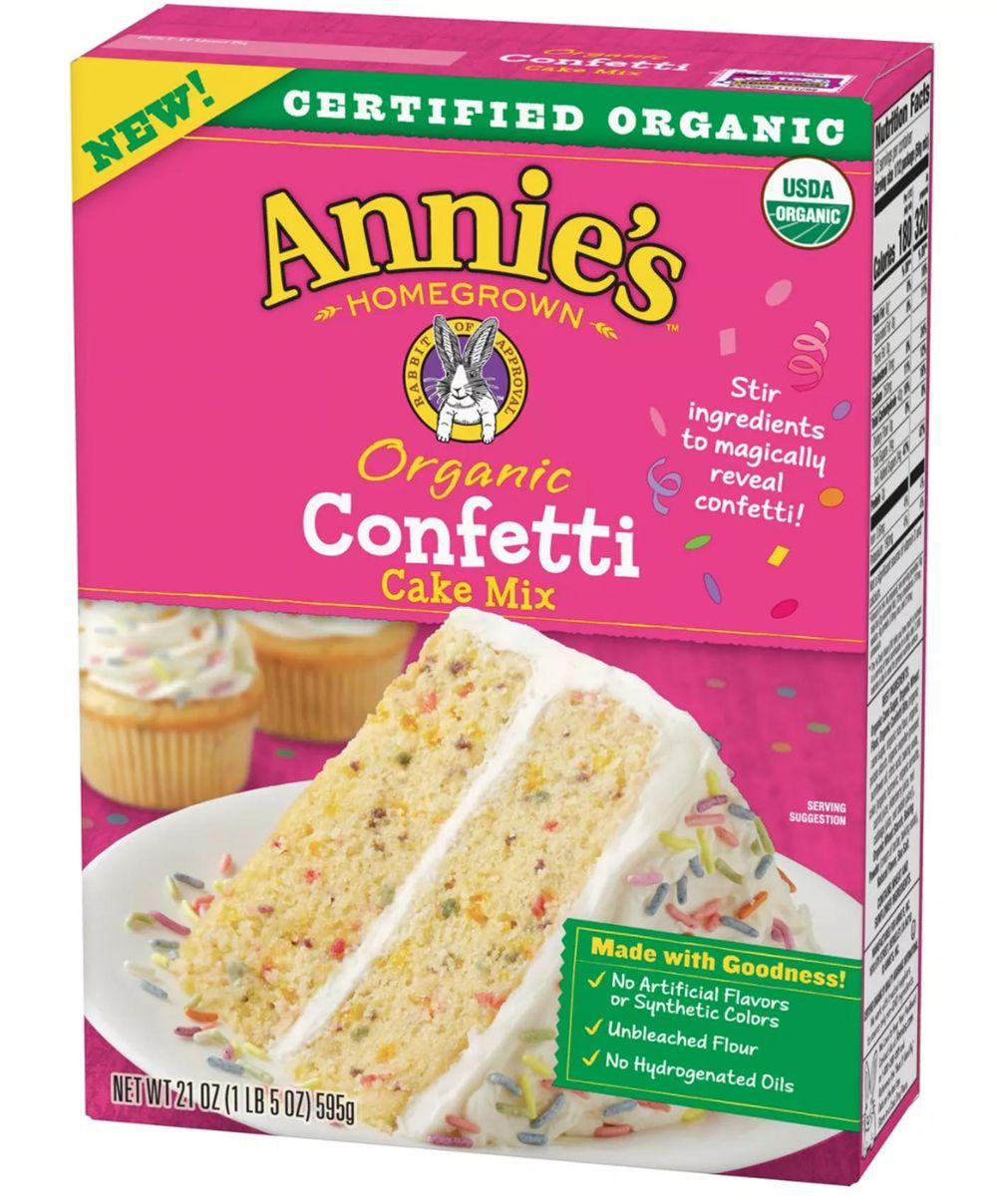 Annies organic confetti cake mix