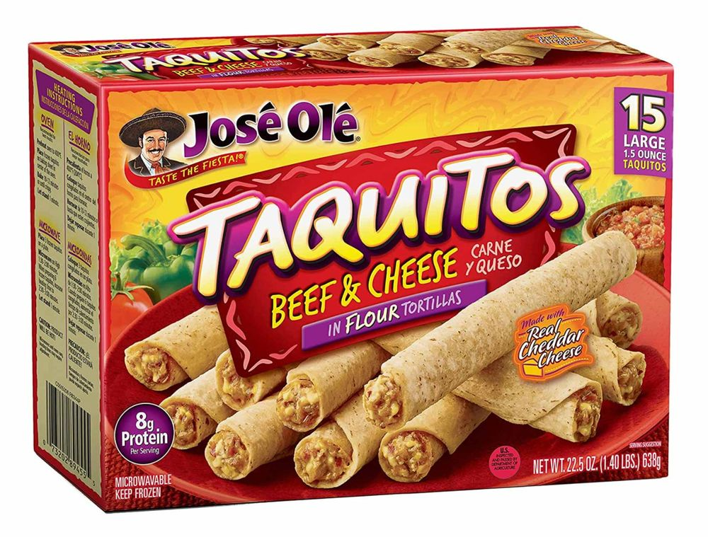 Jose Ole beef and cheese taquitos
