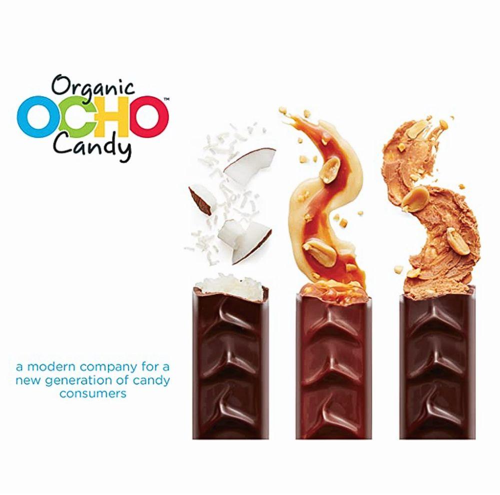 Ocho organic candy advertisement