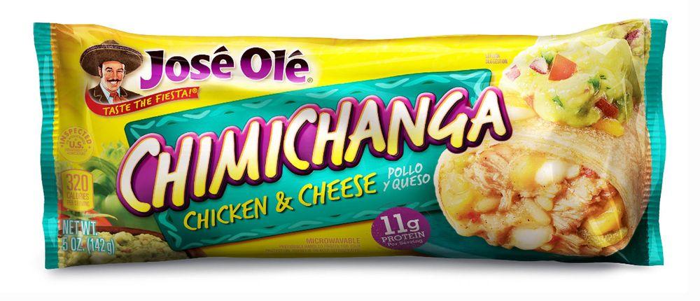Jose Ole chicken and cheese chimichanga