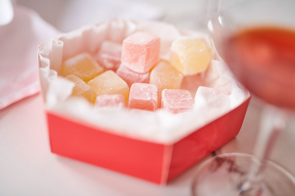 Turkish delight jellied candy