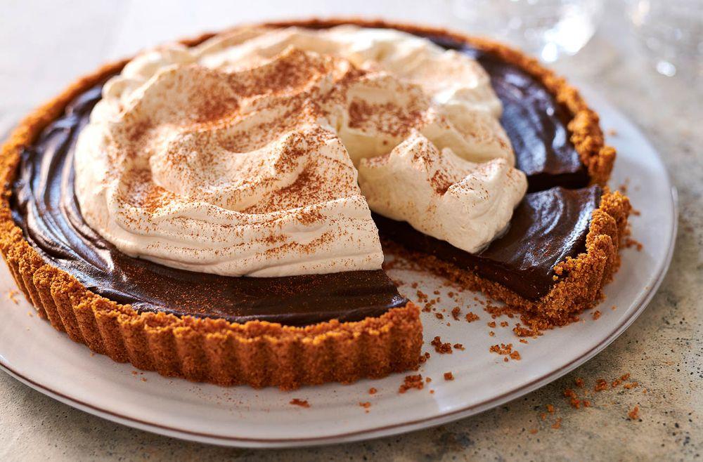 Chocolate cinnamon tart