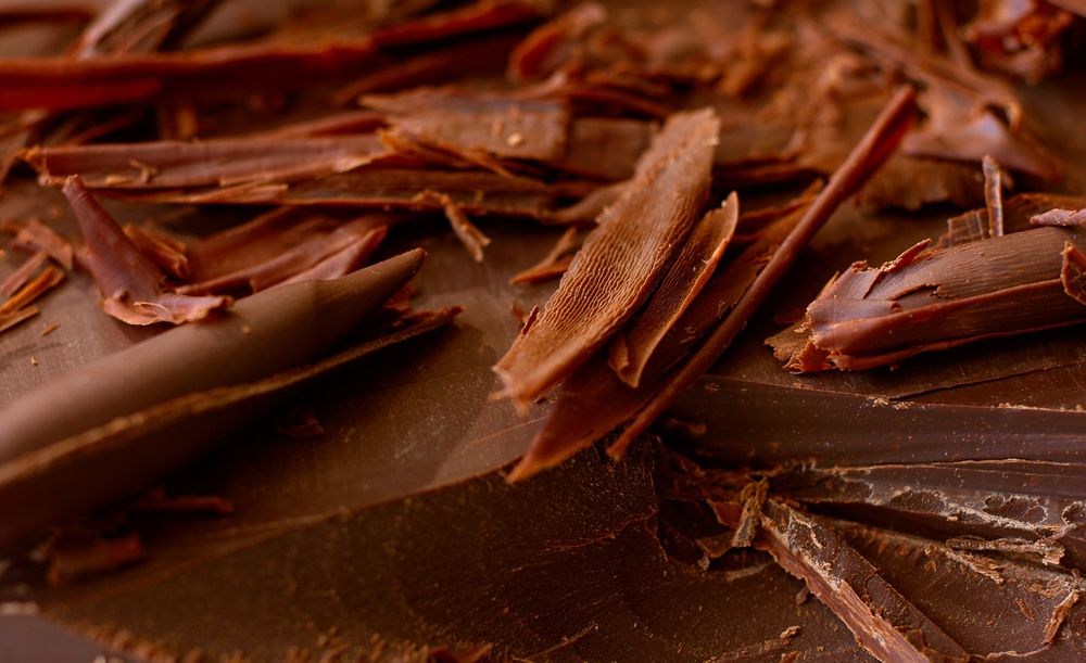 Milk chocolate shavings
