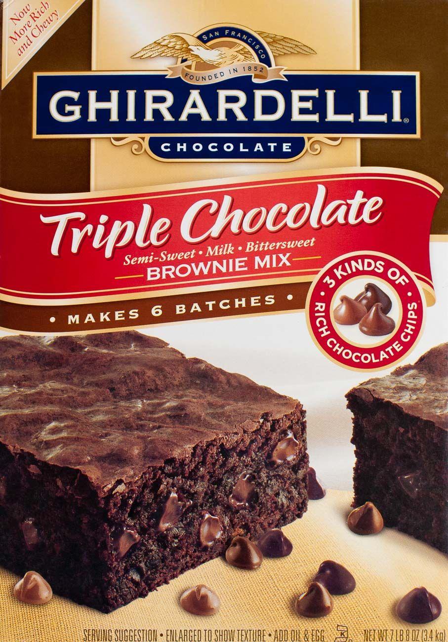 Ghirardelli triple chocolate brownie packaging