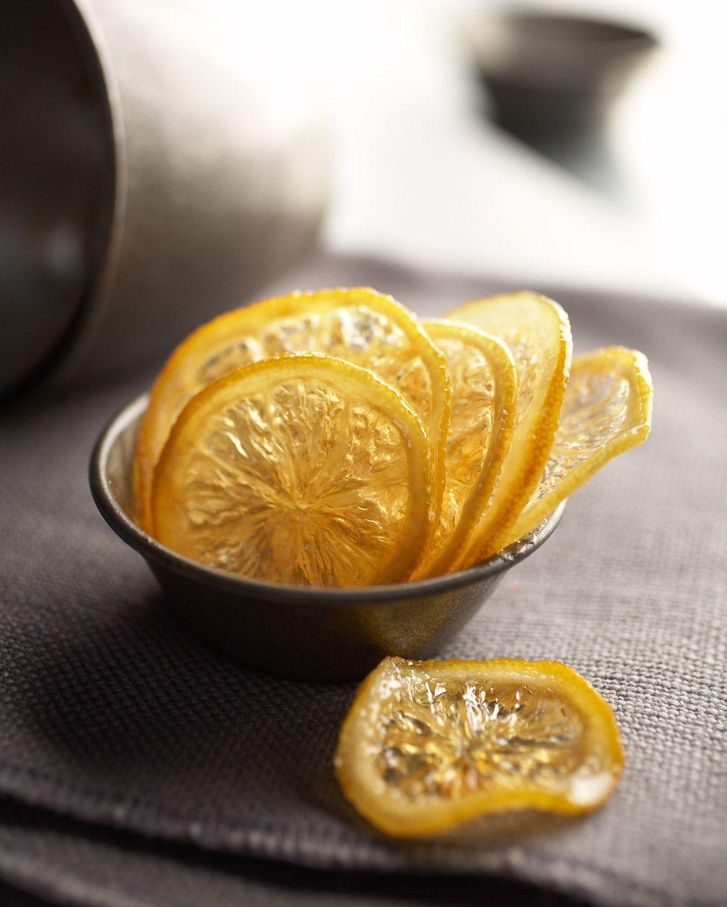 Sliced candied lemon