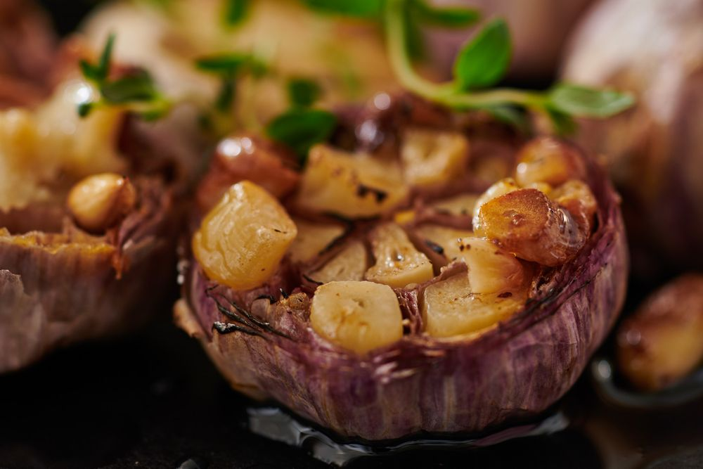 Roasted garlic heads
