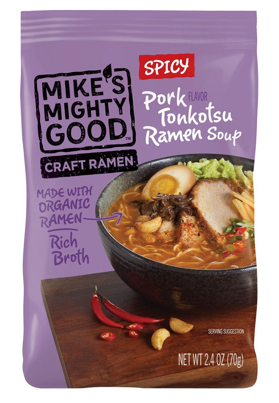 Mikes pork tonkotsu ramen soup