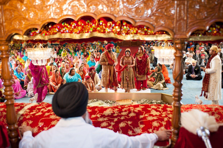 sikh wedding, Gurdwara Wedding, colorful indian wedding