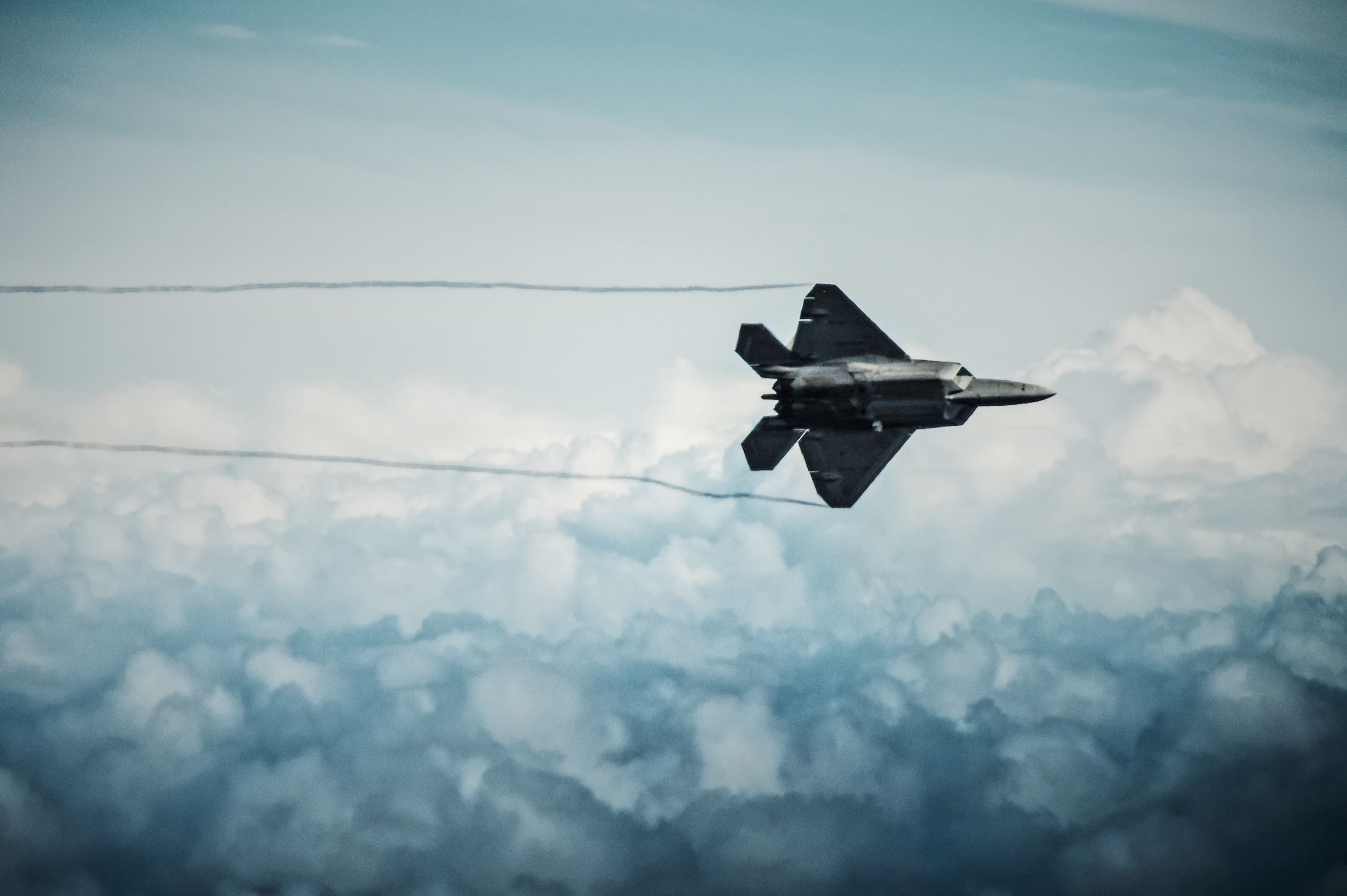 F22 over Hawaii