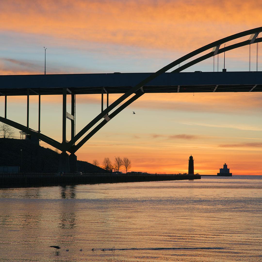 Sunrise Over Hoan Bridge