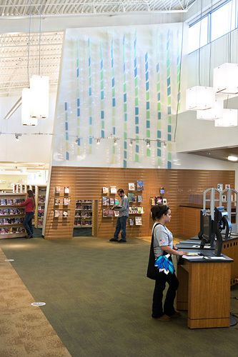 Castro Valley Library, Castro Valley , CALeaf-scape, 2009 by Andre Caradec and Robert Fukuda.Commissioned by the Alameda County Arts Cmmission