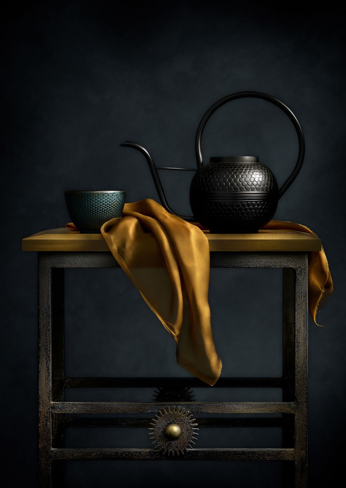Teapot and Table by Harold Ross