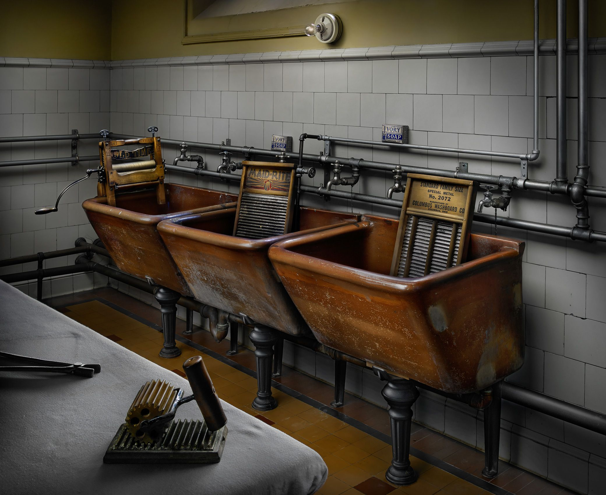 Biltmore House Brown Laundry Room by Harold Ross