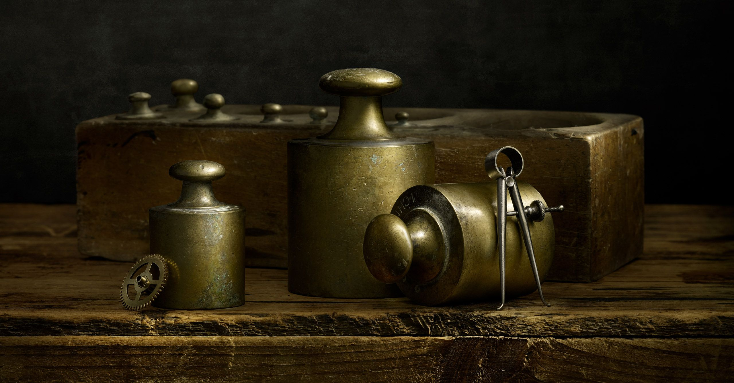 Brass Weights Italy by Harold Ross
