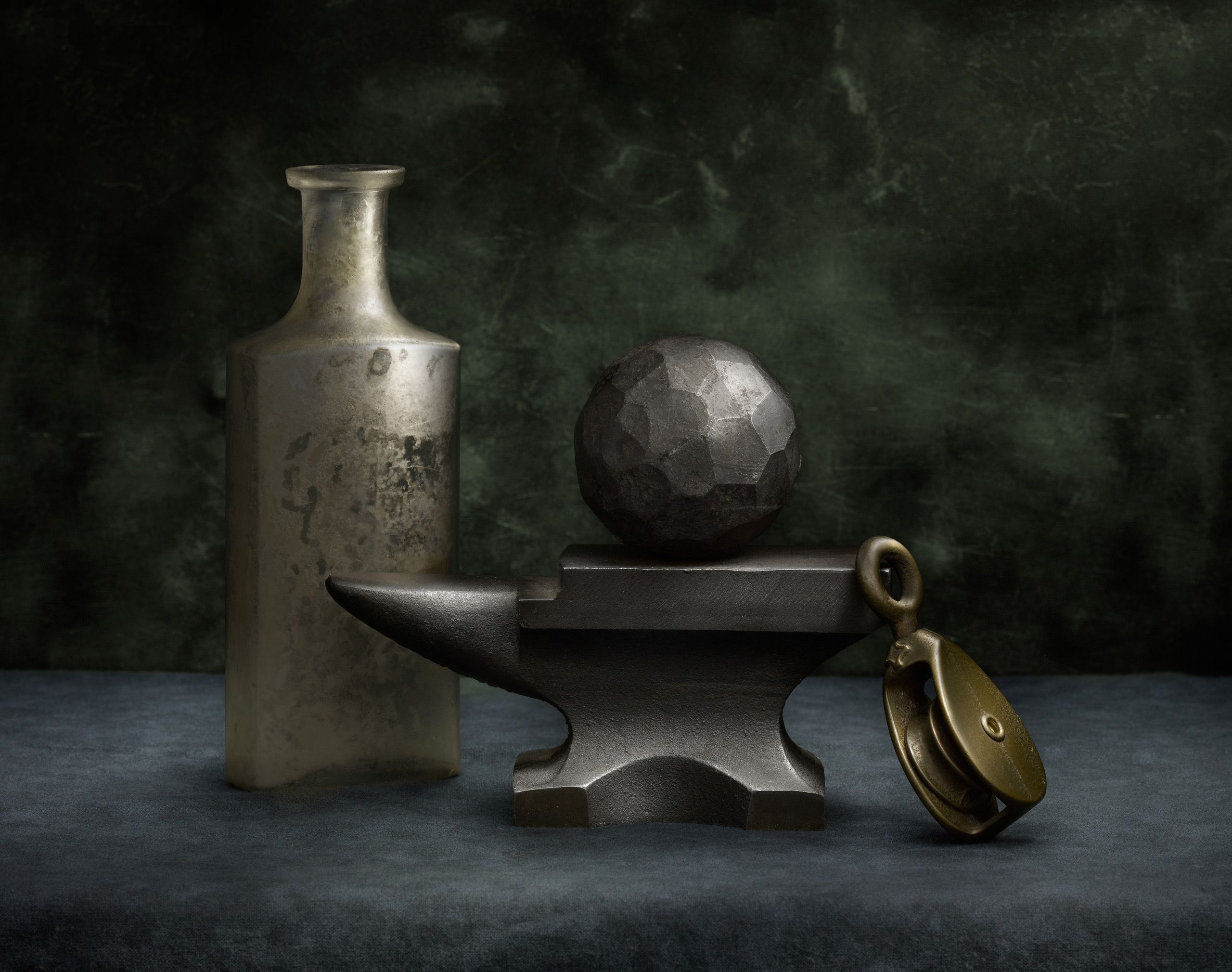 Anvil with Steel Ball and Pulley by Harold Ross