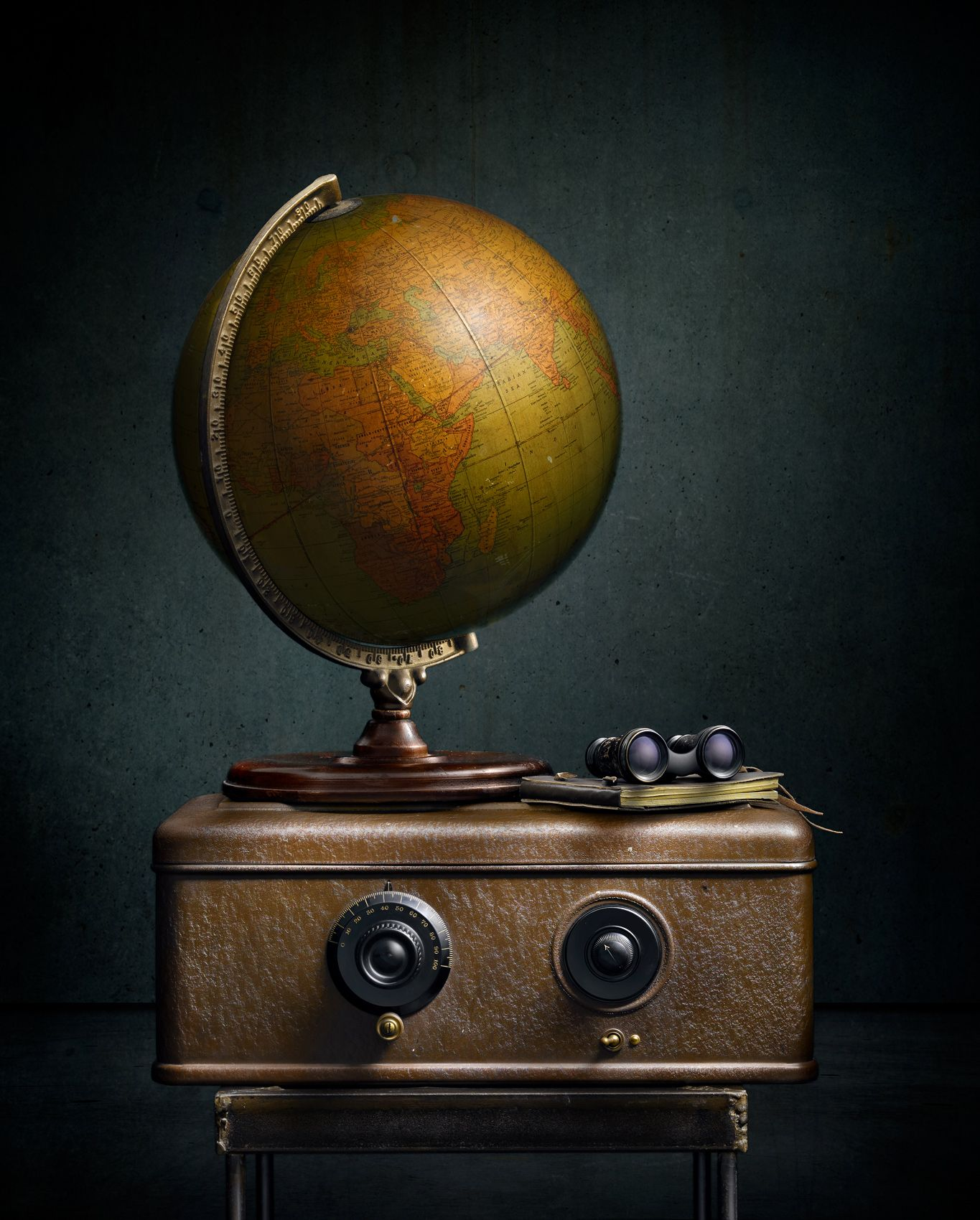 Globe with Radio by Harold Ross