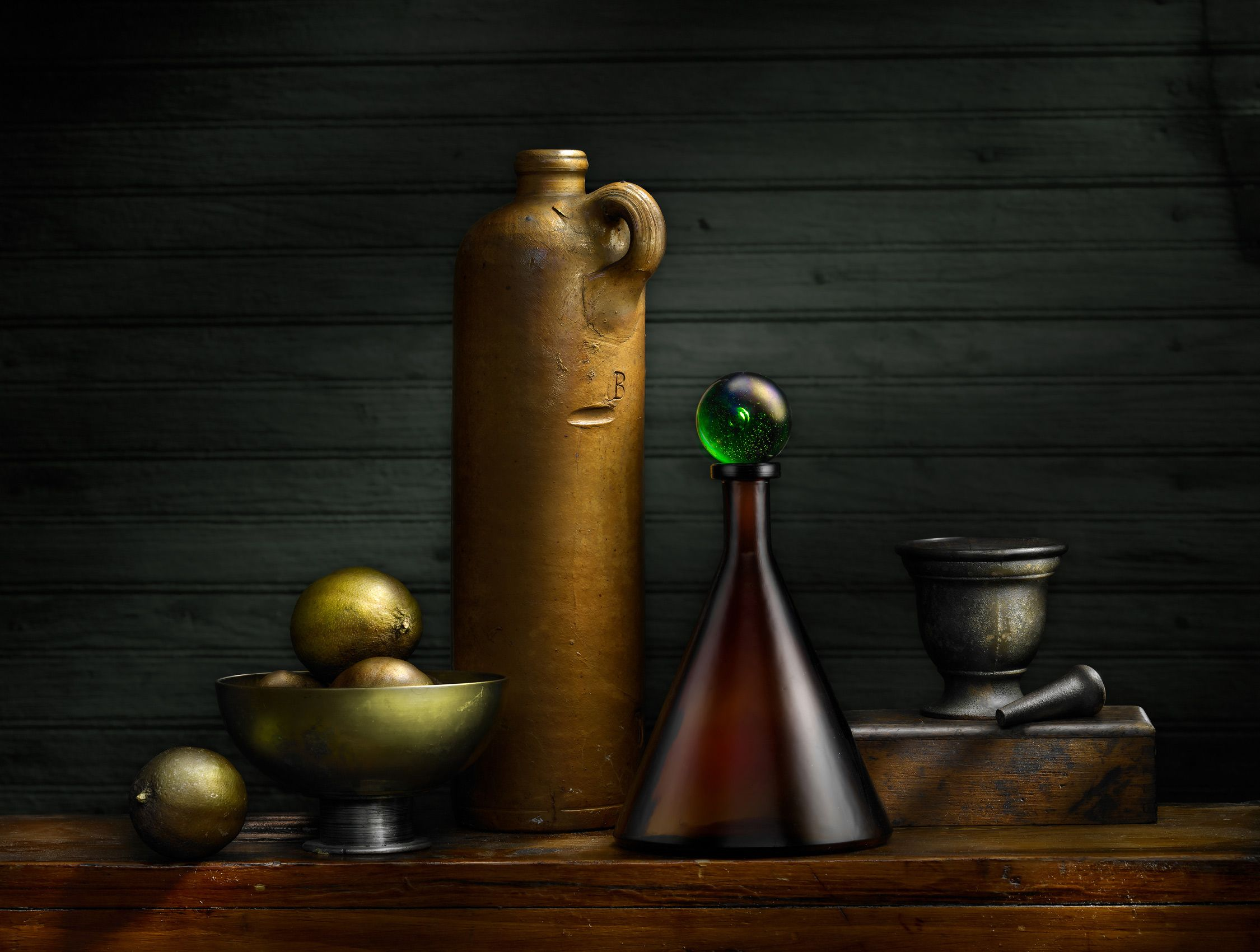 Sake Bottle with Marble by Harold Ross