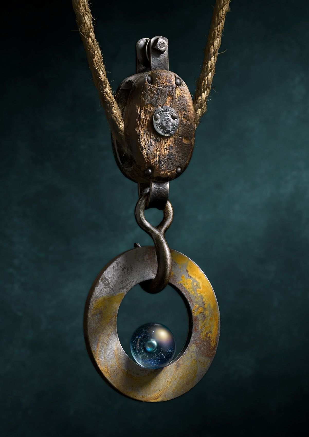 Pulley with Steel Ring by Harold Ross