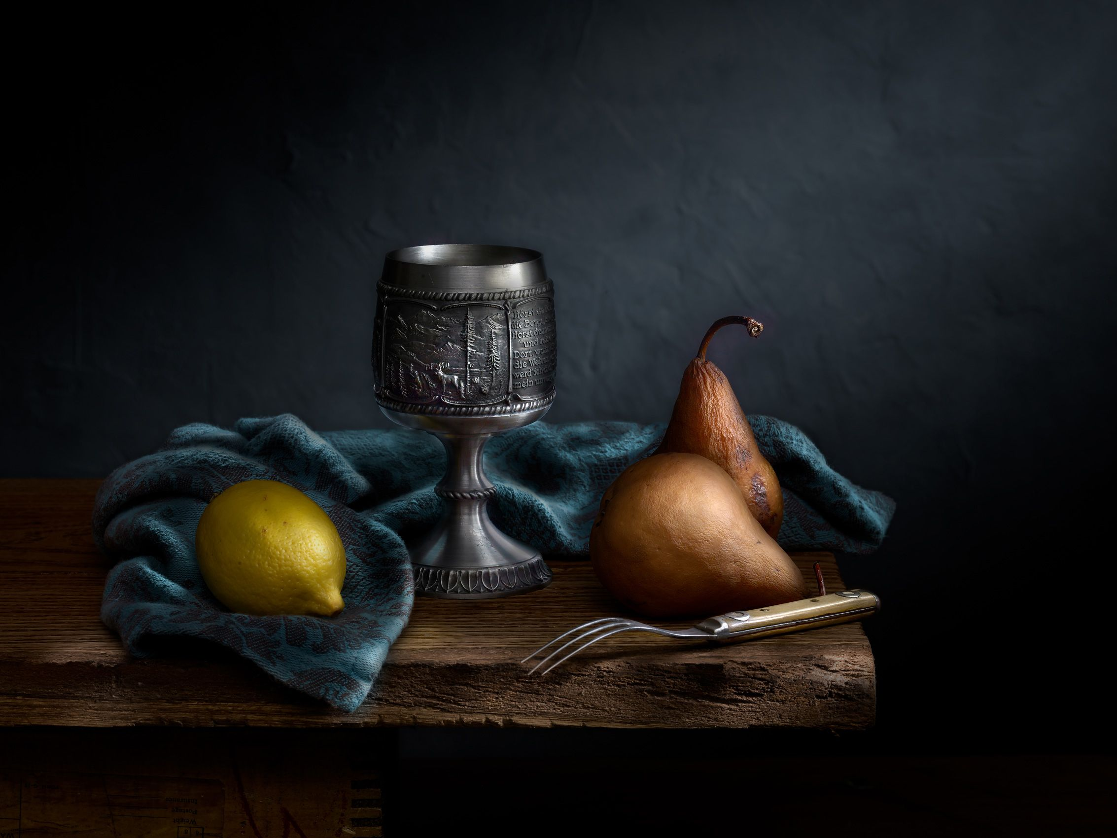 Chalice with Pears by Harold Ross