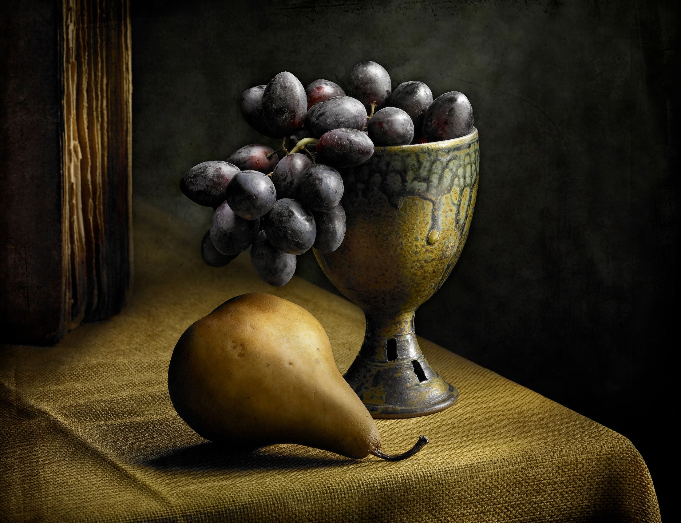 Still Life with Grapes by Harold Ross