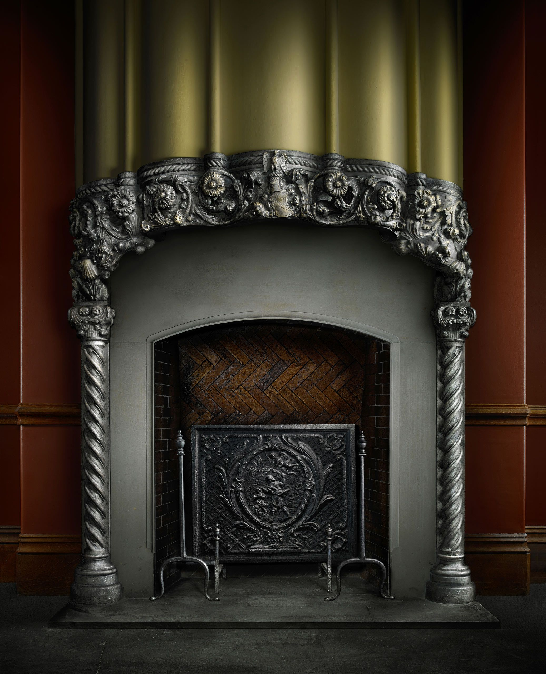 Biltmore House Family Sitting Room Fireplace by Harold Ross