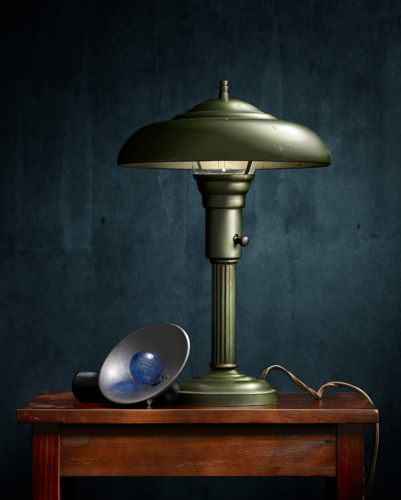Lamp with Flash Gun by Harold Ross