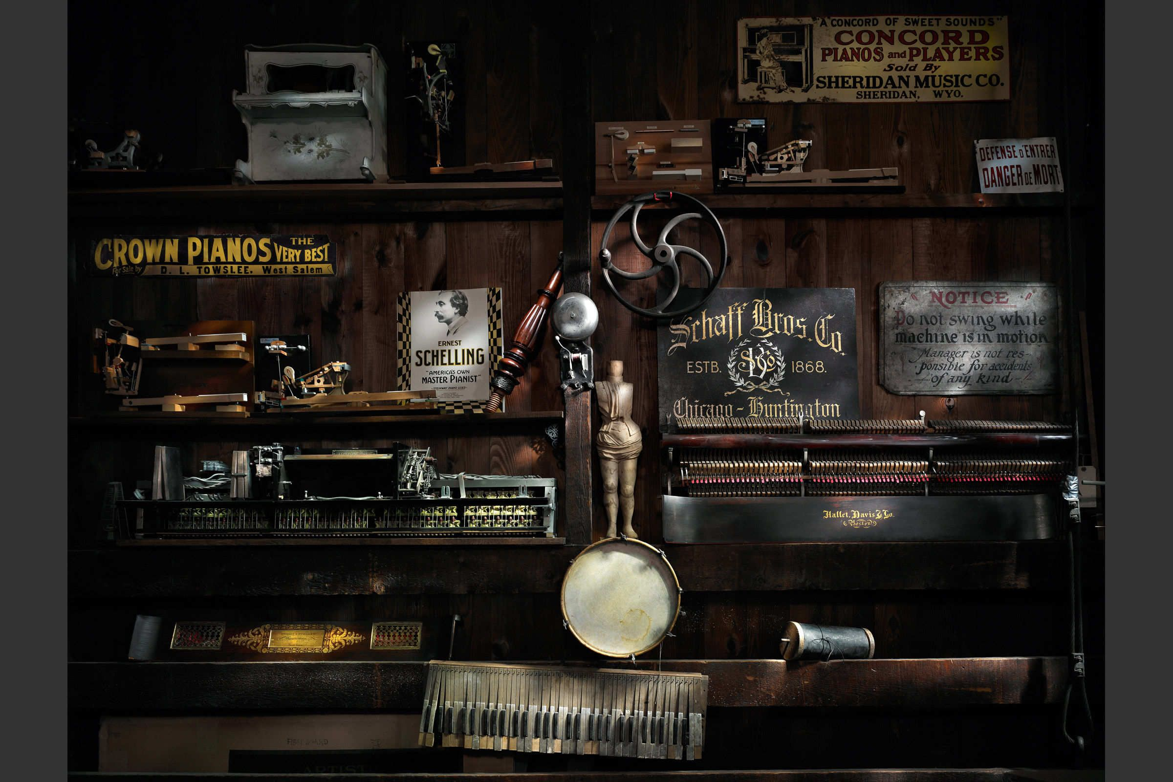 Piano Workshop Wall  by Harold Ross