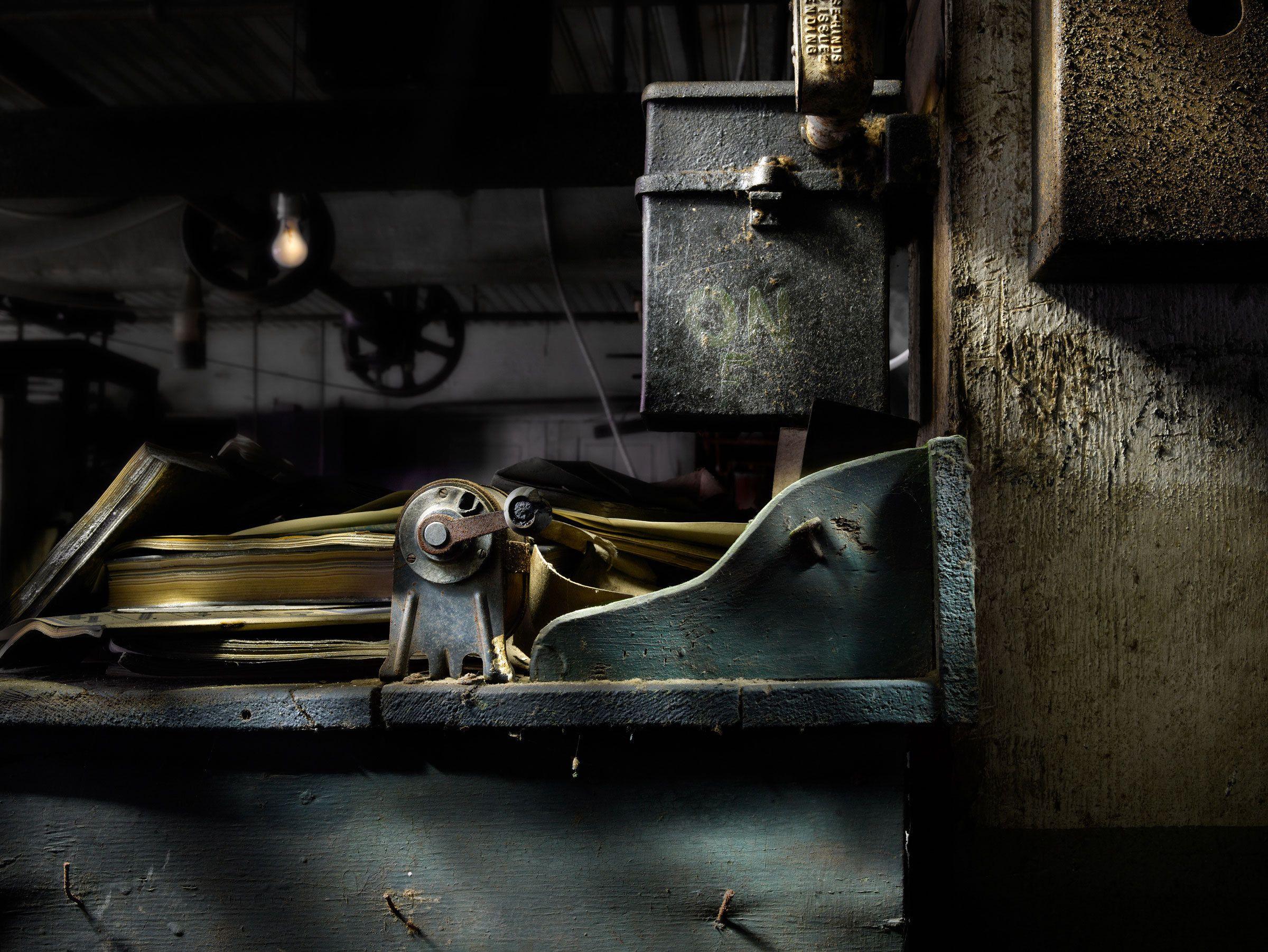 Silk Mill Pencil Sharpener by Harold Ross