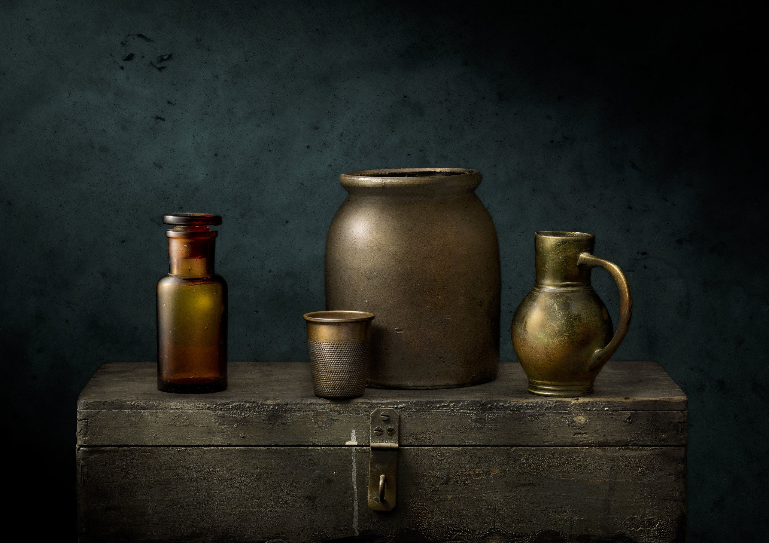 Crock, Glass and Brass Vessels by Harold Ross