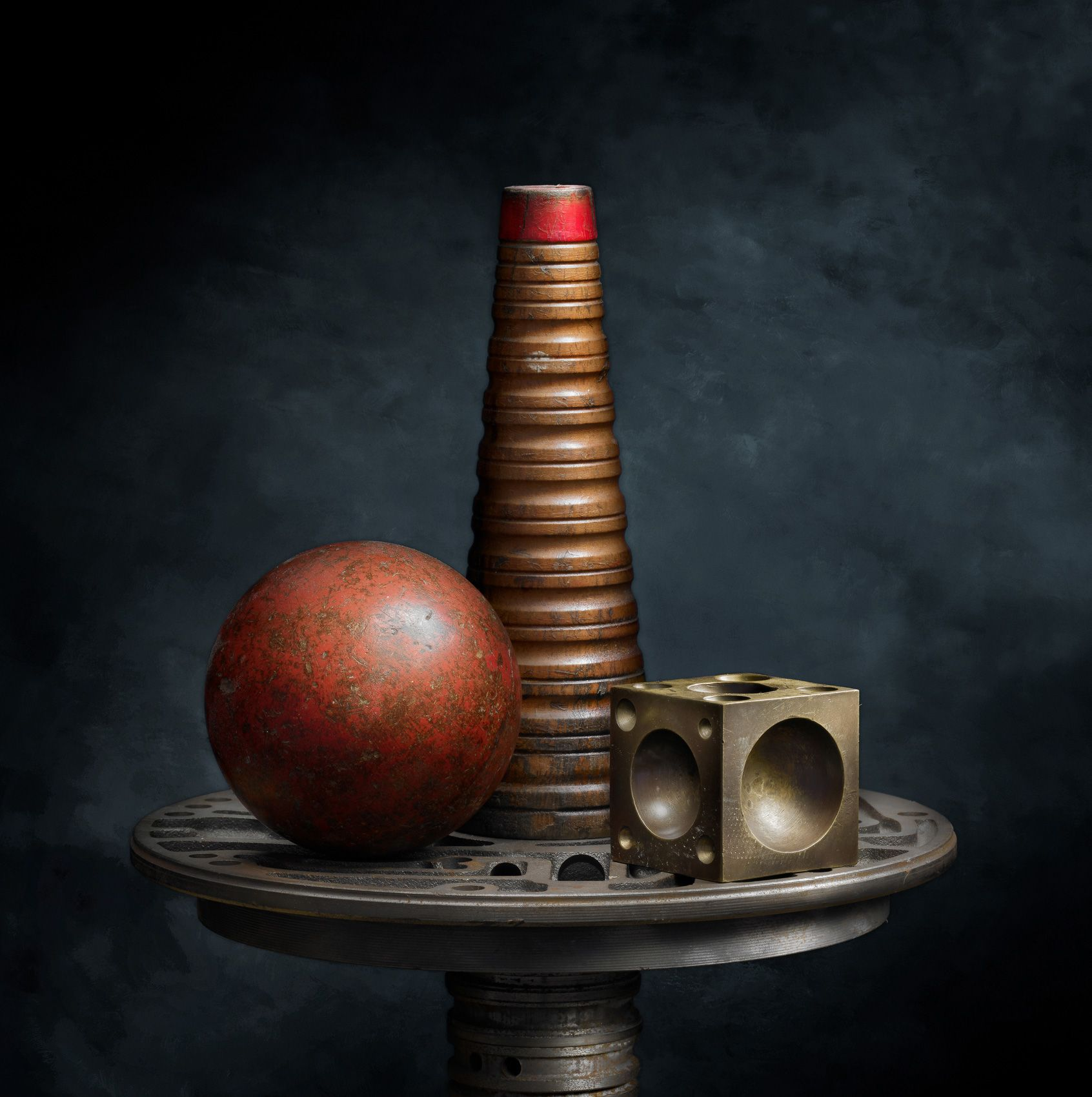 Cone, Ball and Block