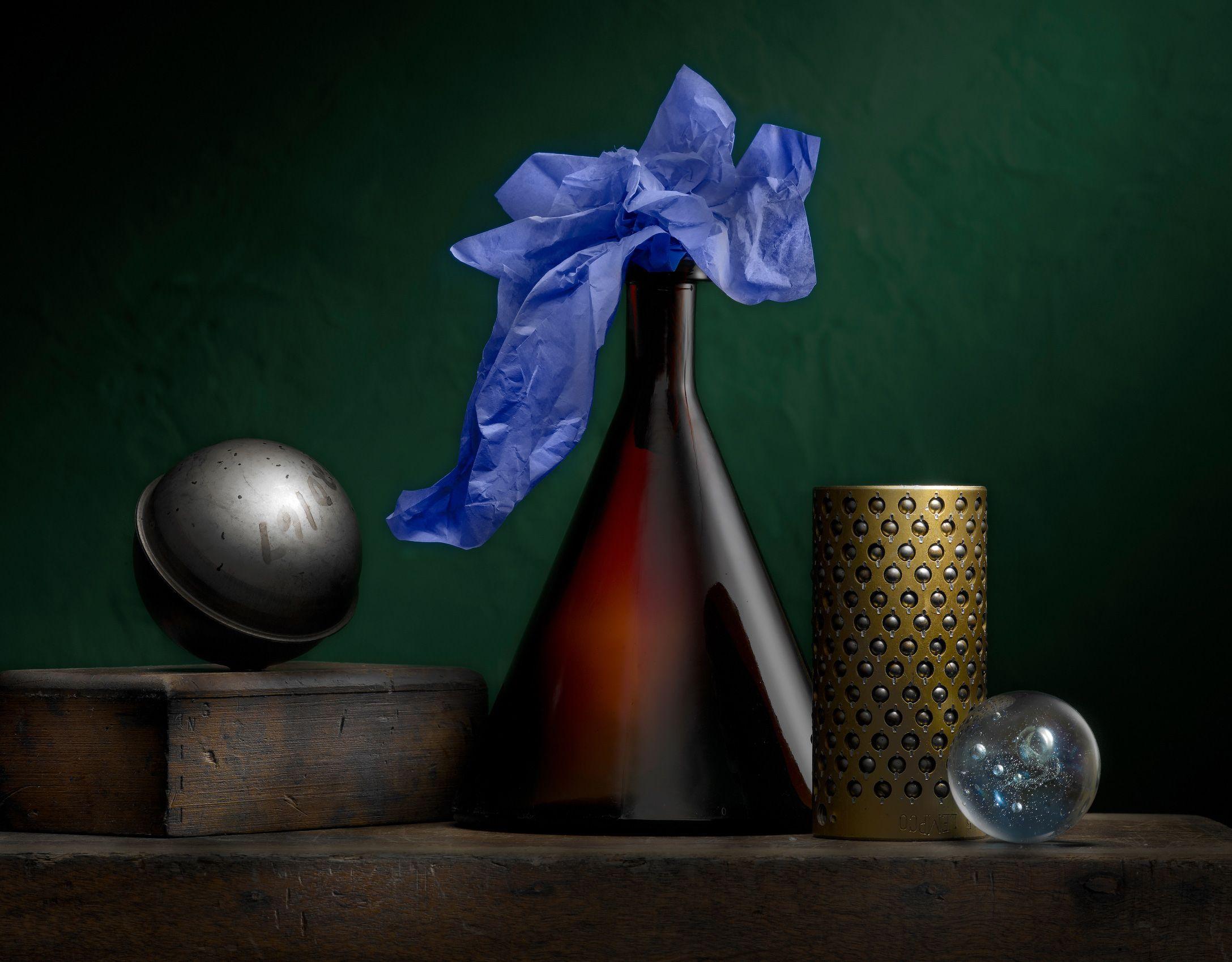 Still Life with Sake Bottle by Harold Ross