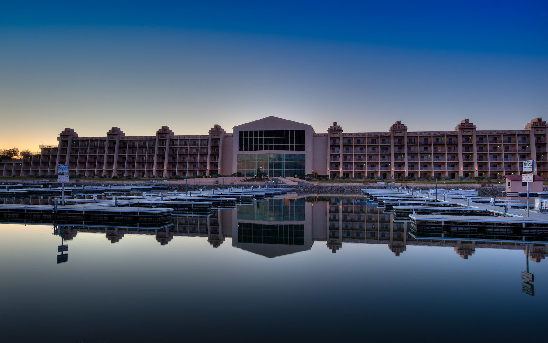 Sunrise at Blue Water Casino and Resort Hotel