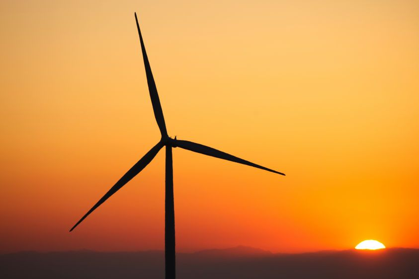 NextEra Energy Wind Turbines at Sunrise in the Altamont Pass