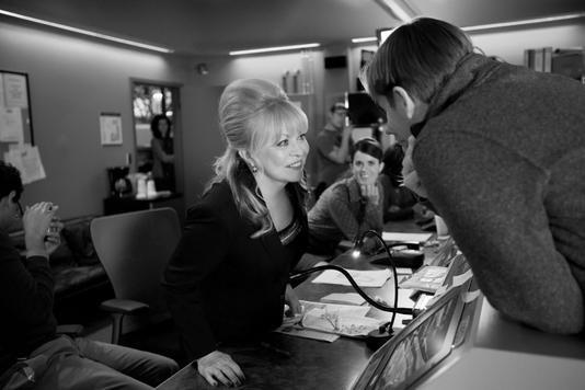 Jacki Weaver on the set of Blunt Talk