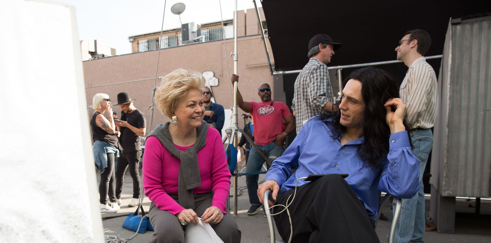 Jackie Weaver + James Franco behind the scenes on The Disaster Artist