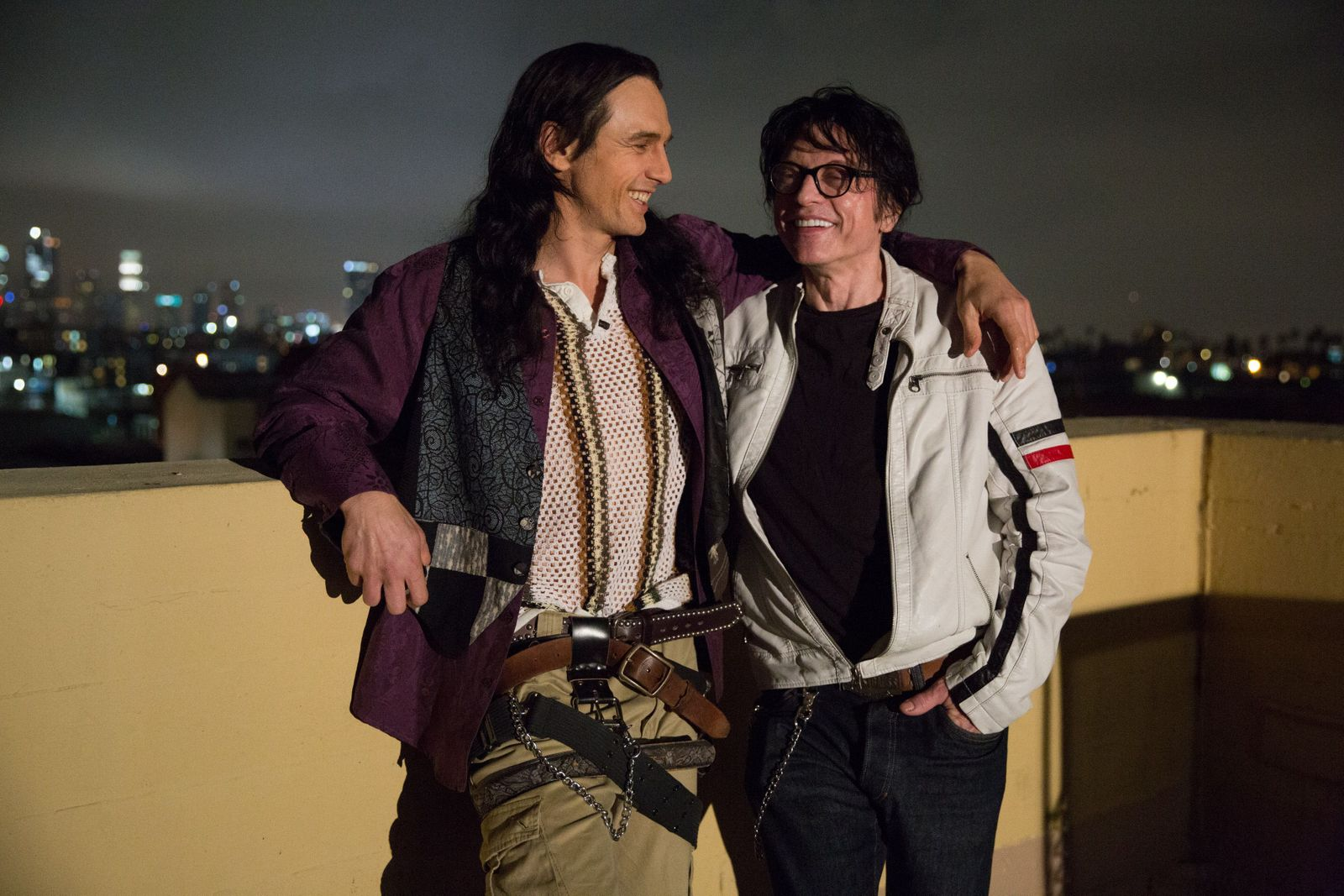 James Franco + Tommy Wiseau on the set of  The Disaster Artist
