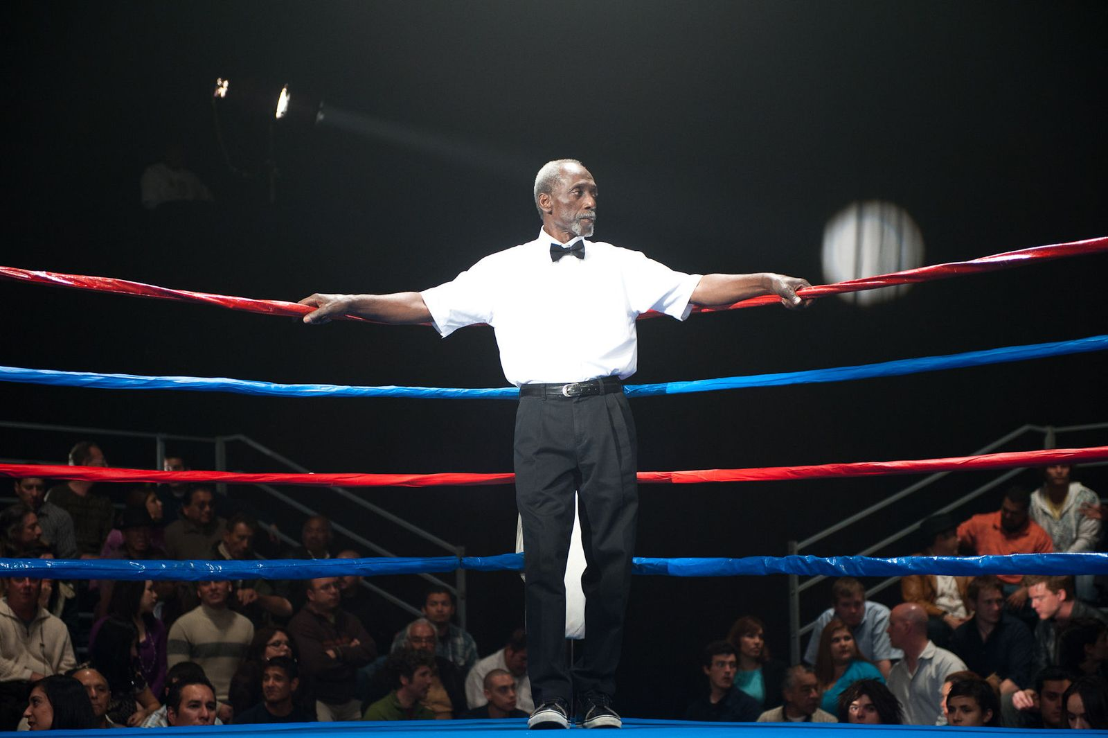 boxing ring on the set of The Obama Effect