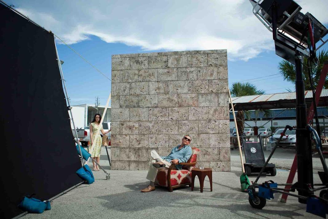 Danny Huston + Jessica Marais camera test for Magic City