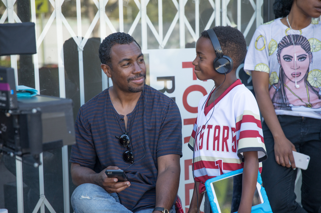 Prentice Penny on the set of Insecure
