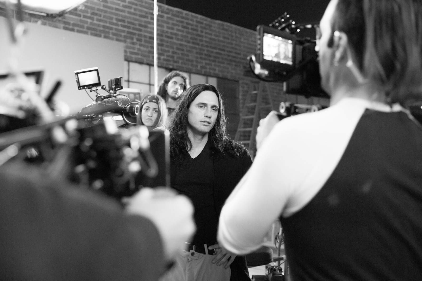 James Franco on the set of The Disaster Artist