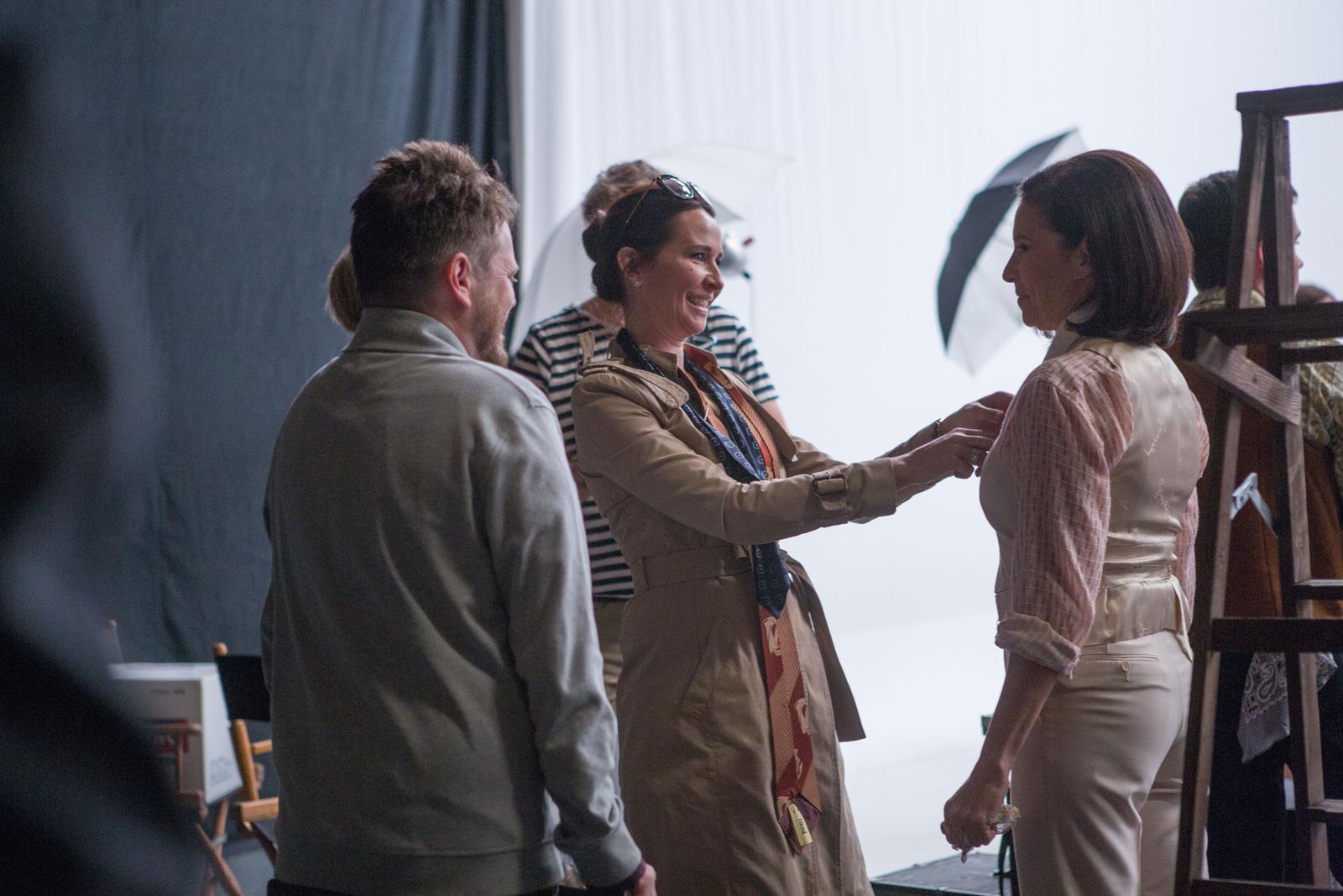costume designer Janie Bryant on the set of Mad Men