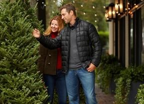 Brittany couple and x mas trees.JPG