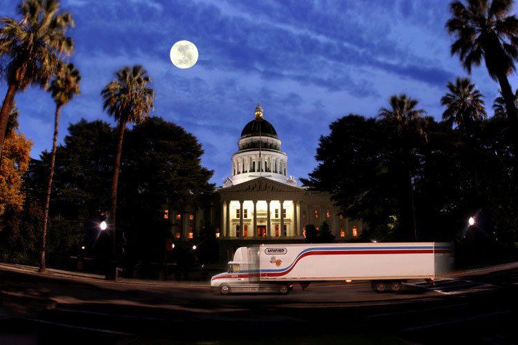 Annual Report - truck at capital in Sacramento