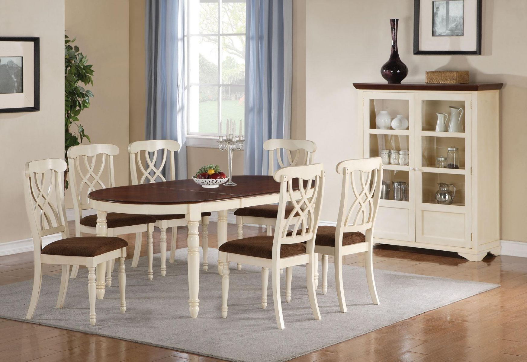 Coaster Dining Room Set Upon Request Call (631) 742-1351 for Best Price Guarantee Dinette Sets New York , Dinette Sets Long Island , Dining Room Sets New York , Dining Room Sets Long Island, Dining Room Chairs Long Island Soft, serene, and charming, the Ca