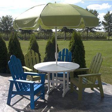 Polywood Adirondack Long Island Dining Set