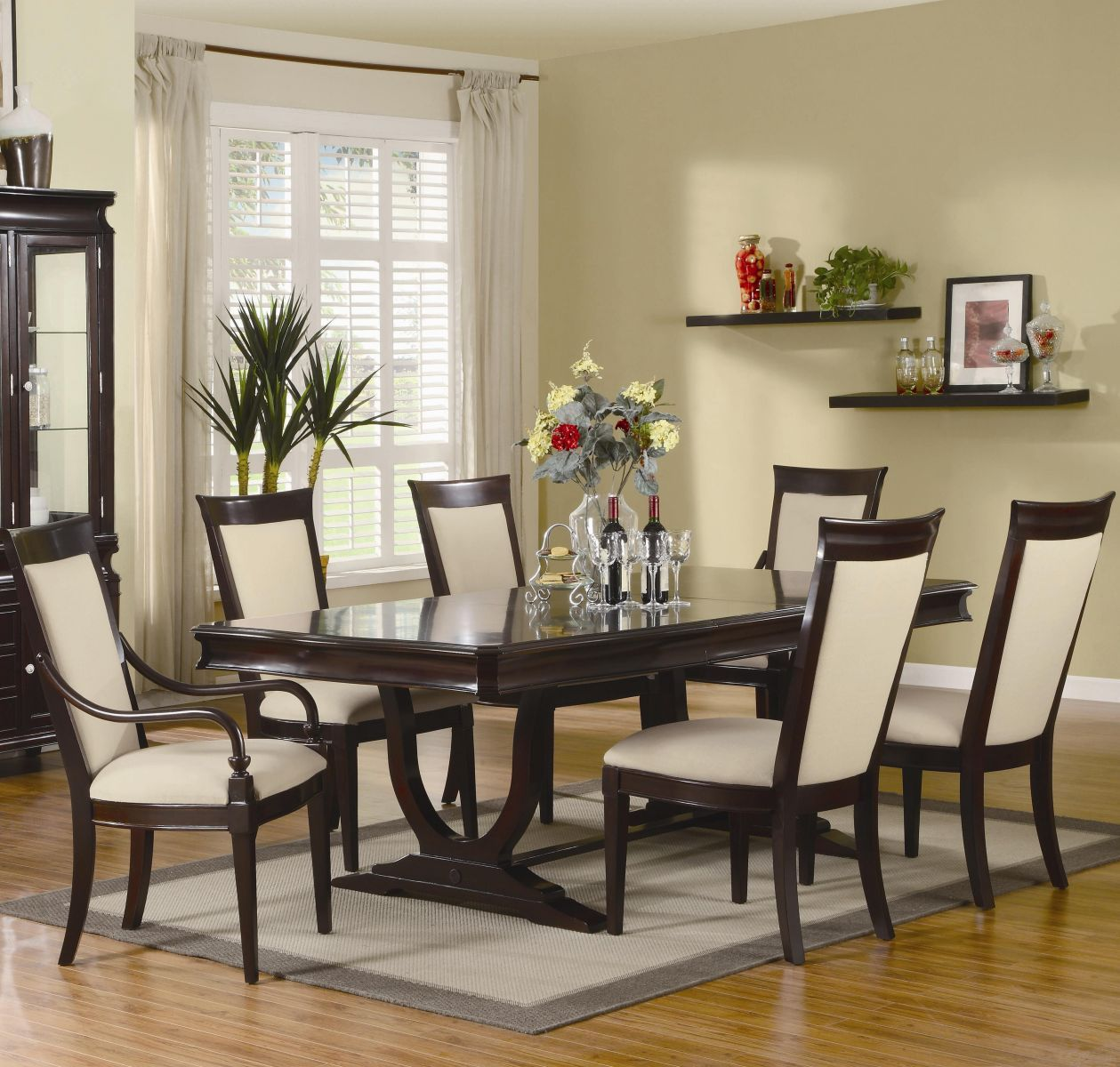 Coaster Dining Room Set  Price Upon Request Call (631) 742-1351 for Best Price Guarantee  Dinette Sets New York , Dinette Sets Long Island , Dining Room Sets New York , Dining Room Sets Long Island, Dining Room Chairs Long Island The handsome Beverly dinin