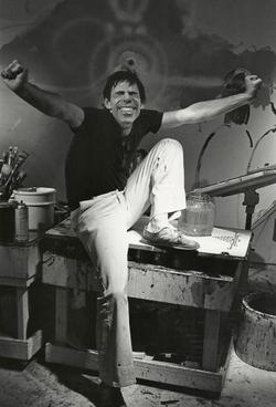 Peter Max, artist, New York, 1977