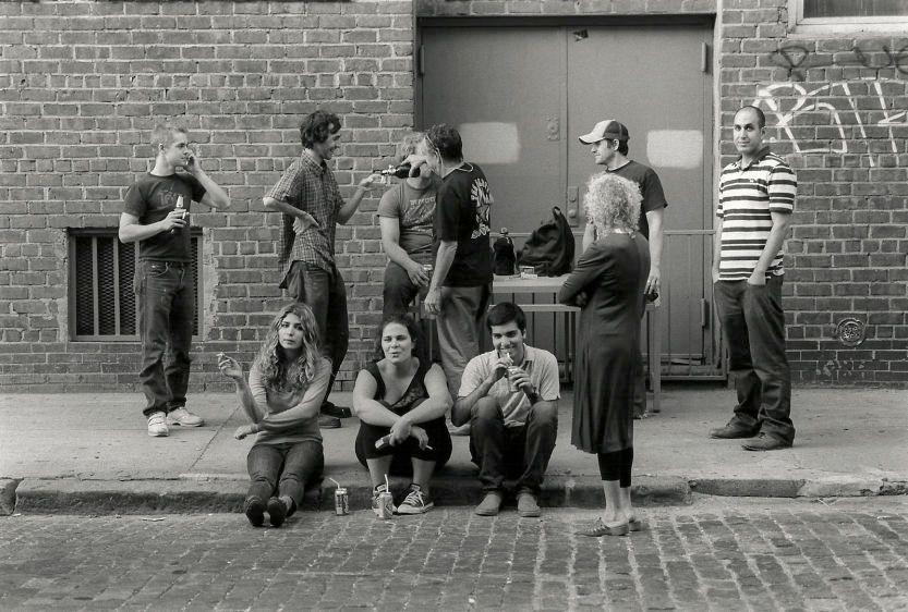 Street opening, Broome Street, New York, 2008